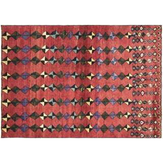 "1960s Turkish Art Deco Rug - 4'3"" X 5'11"""