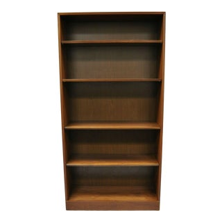 Hale New Yorker Collection Hardwood Walnut Finish 6 Shelf Open Bookcase For Sale