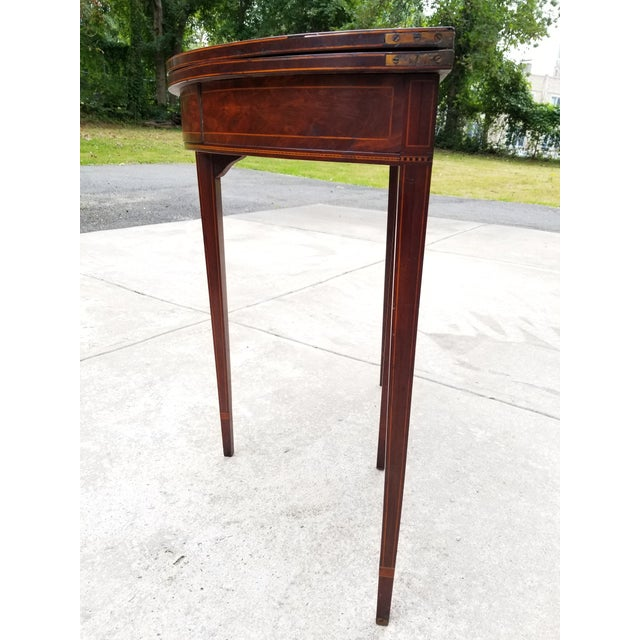 Antique Rosewood Hepplewhite Card Table For Sale - Image 12 of 13