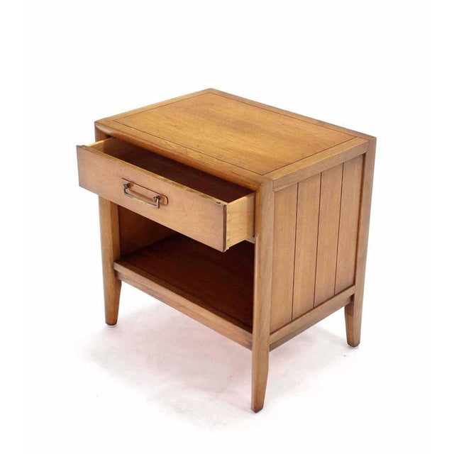 Pair of Mid-Century One Drawer Nightstands by Drexel For Sale - Image 5 of 8