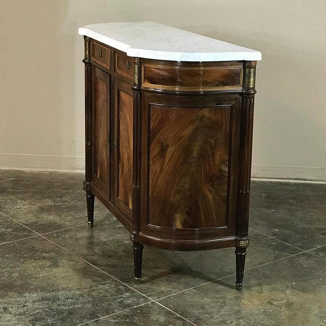 French 19th Century French Louis XVI ~ Directoire Style Marble Top Buffet For Sale - Image 3 of 11