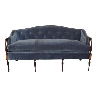 1940s Vintage Sheraton Style Inlaid Mahogany Sofa For Sale