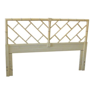Chippendale Faux Bamboo Queen Headboard For Sale