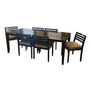 Room & Board Modern Wood Dining Set - Set of 7 For Sale