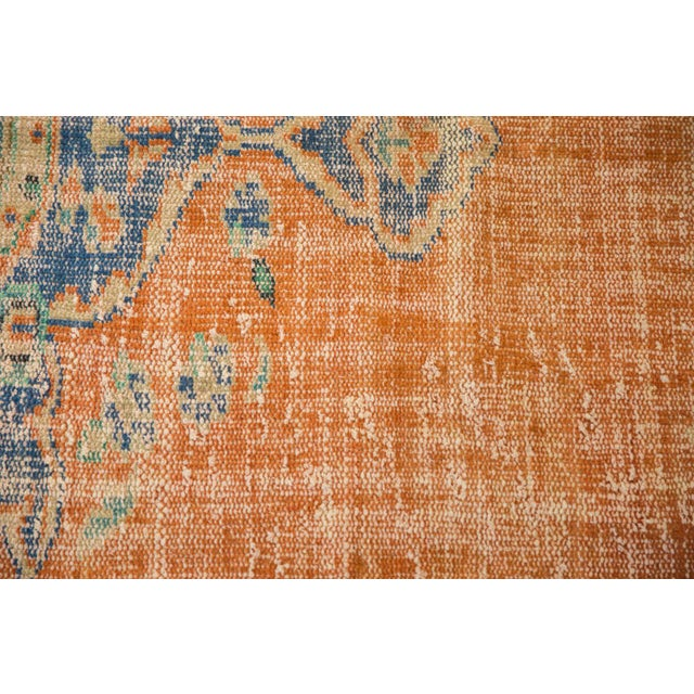 "1960s Vintage Distressed Oushak Carpet - 6'8"" X 9'6"" For Sale - Image 5 of 9"