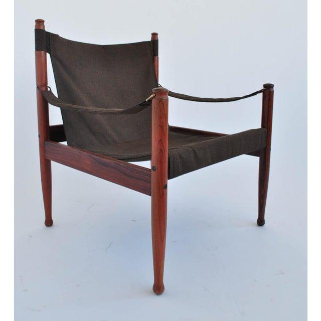 Erik Worts Rosewood Safari Sling Chair - Pair - Image 3 of 10