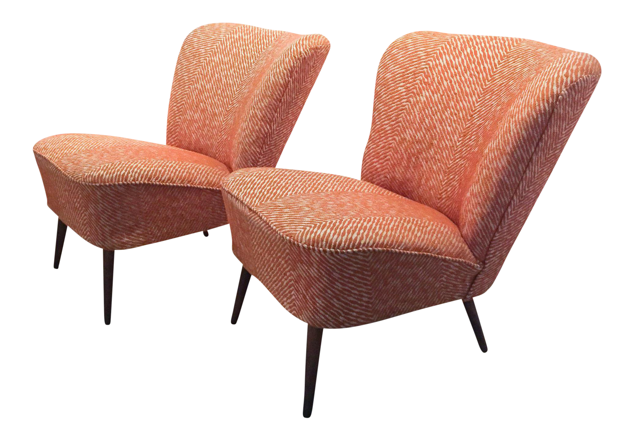 Mid Century German Bartholomew Cocktail Chairs   A Pair