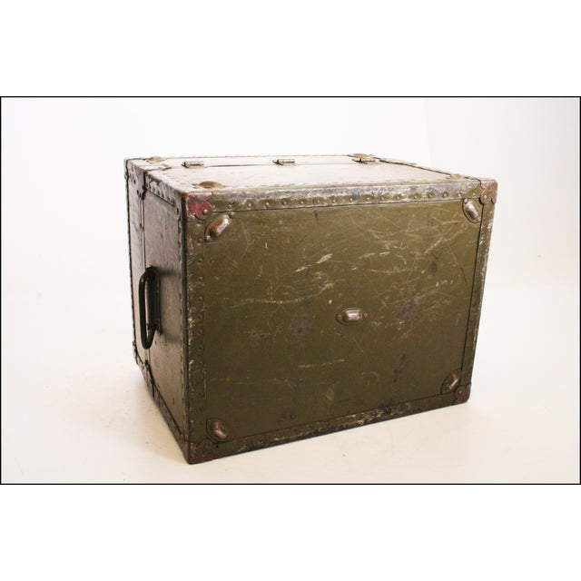 Vintage Industrial Green Military Hard Case - Image 10 of 11