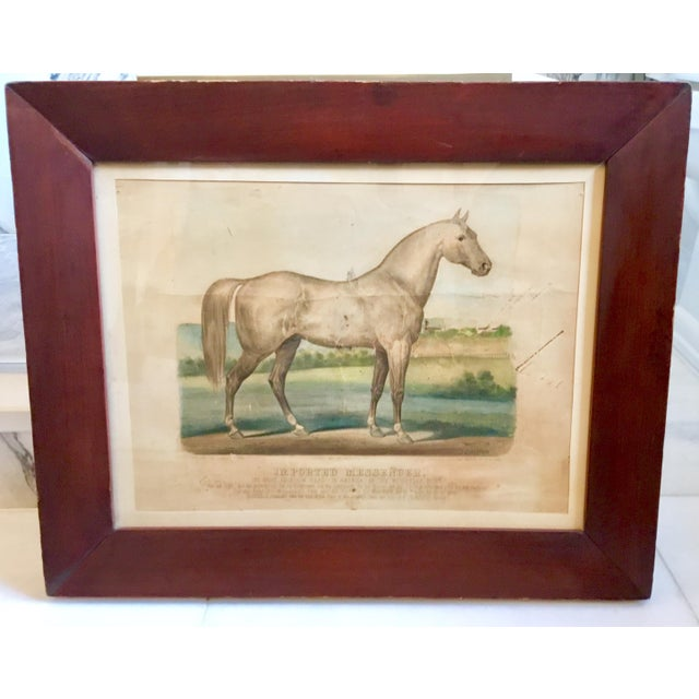 """19th Century Antique Currier & Ives """"Imported Messenger"""" Equestrian Lithograph Print For Sale - Image 11 of 11"""