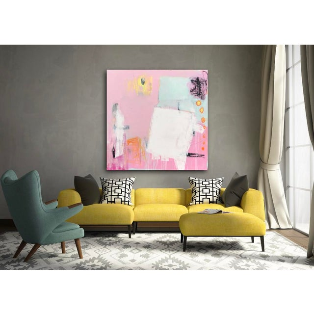 """2010s """"Razzle Dazzle"""" Sarah Trundle Contemporary Abstract Painting For Sale - Image 5 of 5"""