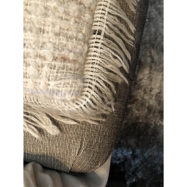 Vintage Hand Woven Irish Wool Pillow For Sale In Santa Fe - Image 6 of 8