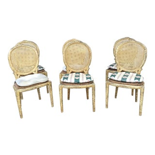 1950s Vintage French Country Dining Chairs- Set of 6 For Sale