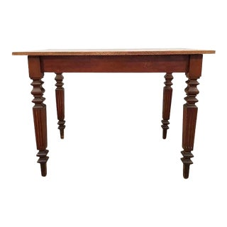Antique French Neoclassical Small Oak Writing Desk Table Two Tone For Sale
