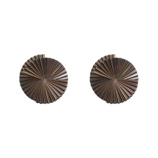 Pair of Small Fan Sconce Sculptures by Fabio Ltd For Sale