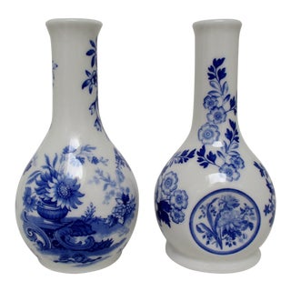 Spode Porcelain Vases, a Pair For Sale