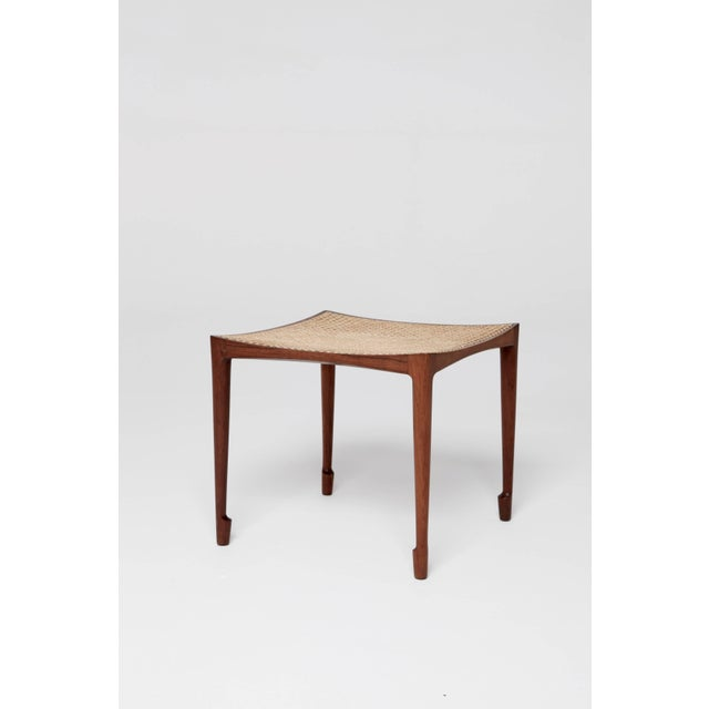 Bernt Petersen rosewood and cane stool, 1960s, Denmark. First exhibited at the cabinet makers exhibition 1958. Produced by...