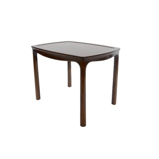 1960s Mid Century Modern Edward Wormley Walnut Side Table For Sale