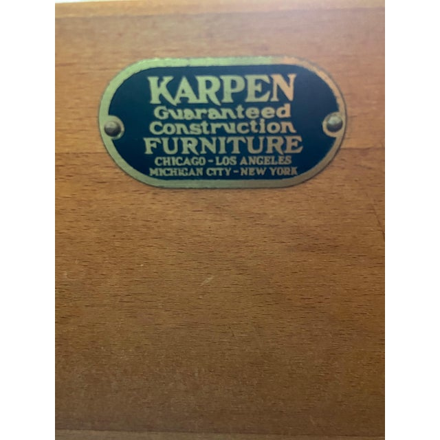 Vintage Victorian Style Karpen Vanity With Mirror For Sale - Image 11 of 12
