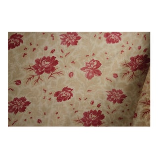 French Faded Floral Rose Cloth Fabric For Sale