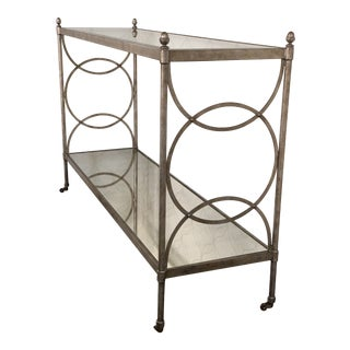 Drexel Heritage Mirror Console Table For Sale