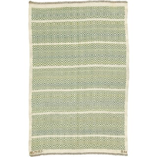 Swedish Flat Weave Rug by Barbro Nilsson and Ab Märta Måås-Fjetterström- 4′2″ × 6′1″ For Sale