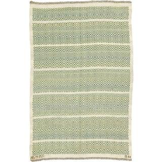 Swedish Flat Weave Rug by Barbro Nilsson and Ab Märta Måås-Fjetterström- 4′2″ × 6′1″ For Sale