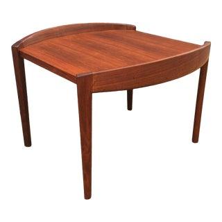 1960s Jens Risom Barrel Edge Walnut Side Table For Sale