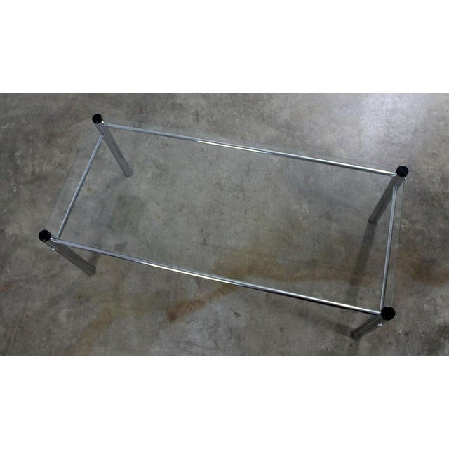 James David Furniture Attributed Chrome & Glass Coffee Table - Image 7 of 12