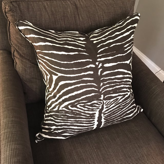 Brunschwig & Fils Le Zebra Pillows- Pair - Image 7 of 7
