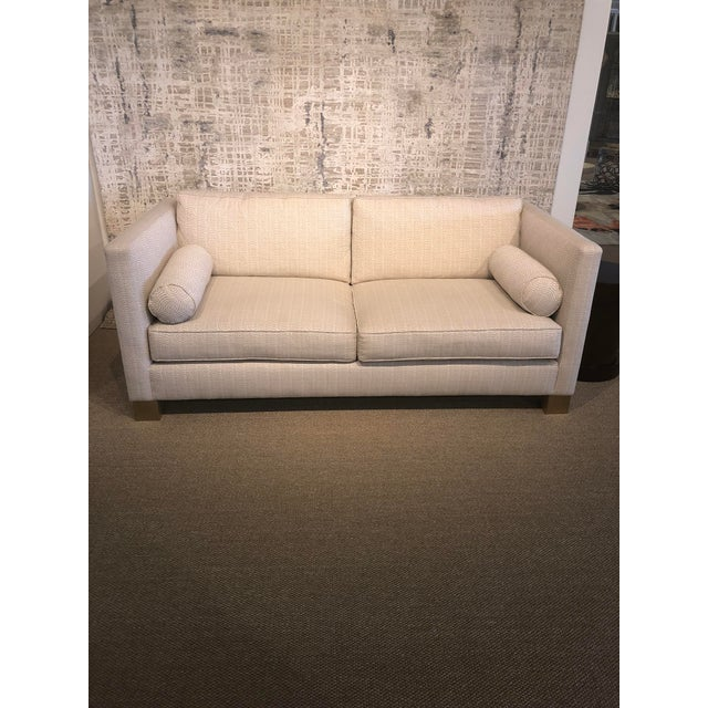 White Scalamandre Upholstered Sofa For Sale - Image 11 of 11