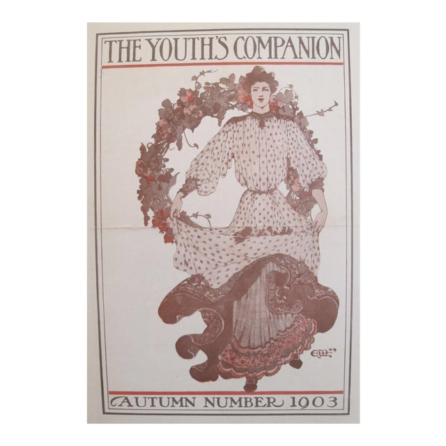 1903 American Art Nouveau Fashion Cover, The Youth's Companion For Sale
