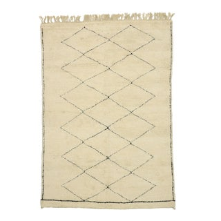 Berber Moroccan Rug With Organic Modern Style - 06'11 X 10'00 For Sale