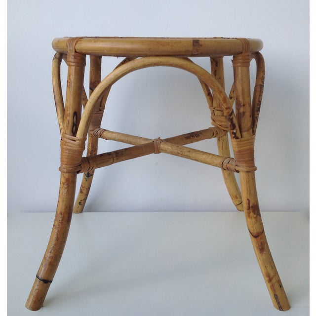 English Bamboo Round Occasional Table - Image 3 of 11