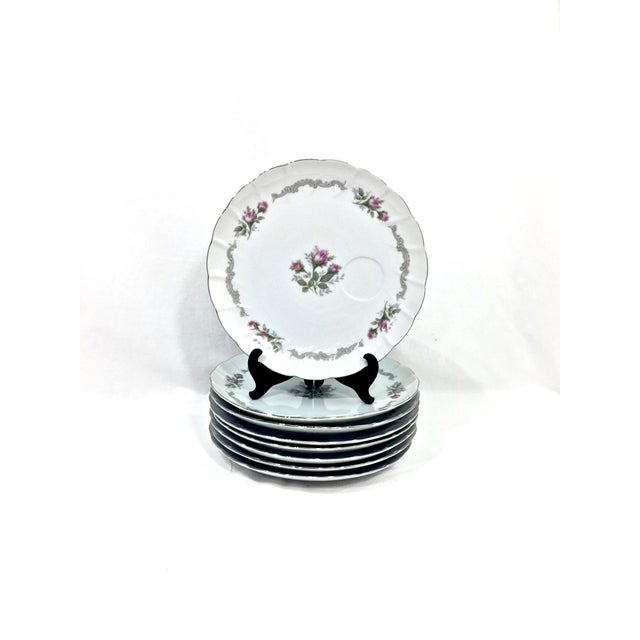 English Vintage Porcelain Luncheon Set, Svc for 8 For Sale - Image 3 of 11