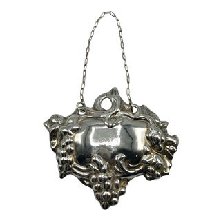 Silver Plate Gin Liquor Tag For Sale