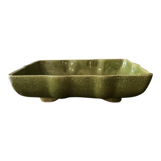 Usa Pottery Green & Blue Shallow Planter