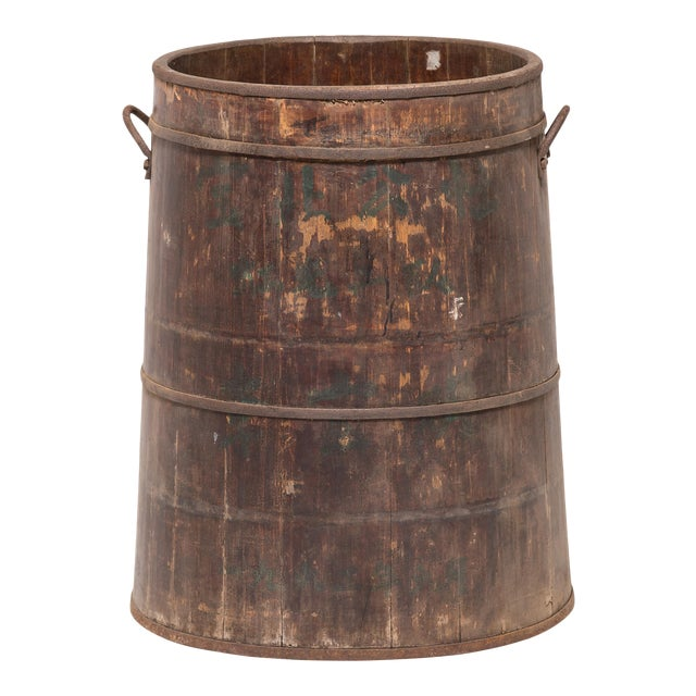 Provincial Chinese Water Barrel For Sale