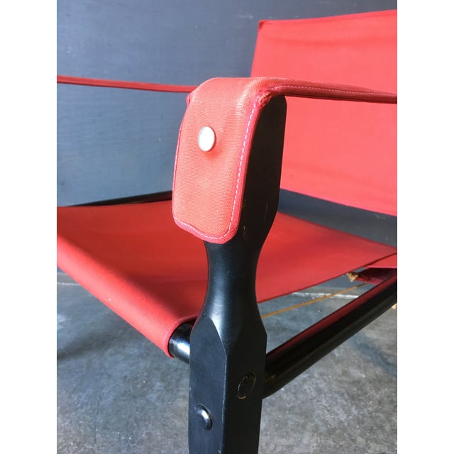 1980's Red Safari Chair For Sale - Image 10 of 11
