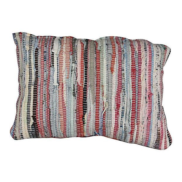 Moroccan Boucherouite Sham Striped II - Image 2 of 3