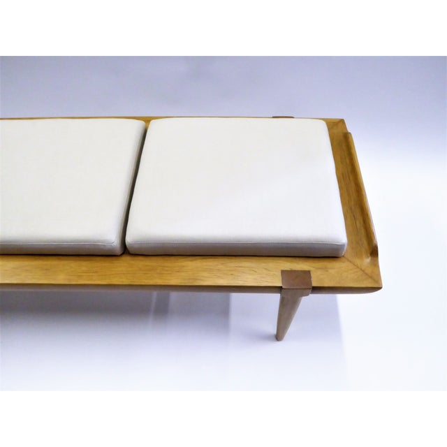 1950s Tomlinson's Sophisticates Line Mid-Century Modern Walnut Bench For Sale - Image 10 of 13