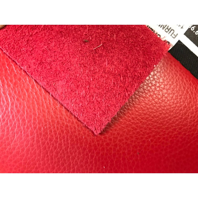 Leather Mid Century Style Red Sled - McCreary Modern for Room & Board Leather Sofa For Sale - Image 7 of 10