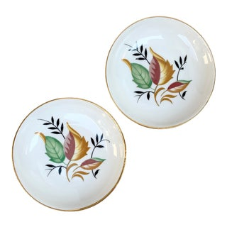 Naaman Autumnal Trinket Dishes - a Pair For Sale