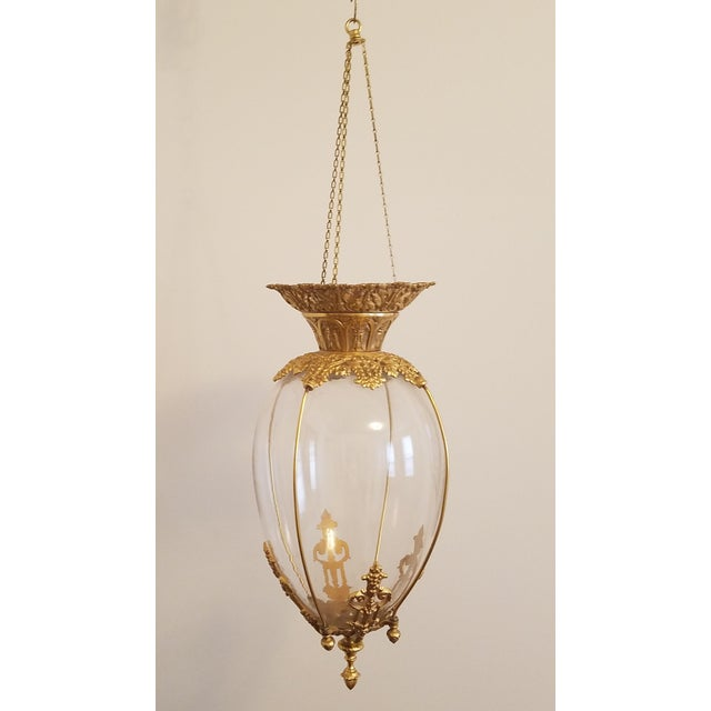 19th Century Apothecary Globe Pendant For Sale - Image 4 of 8