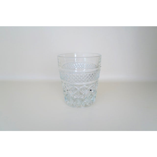 Anchor Hocking Vintage Anchor Hocking Wexford Clear Glass Crystal Small Lowball Drinking Glasses Set of 4 For Sale - Image 4 of 4