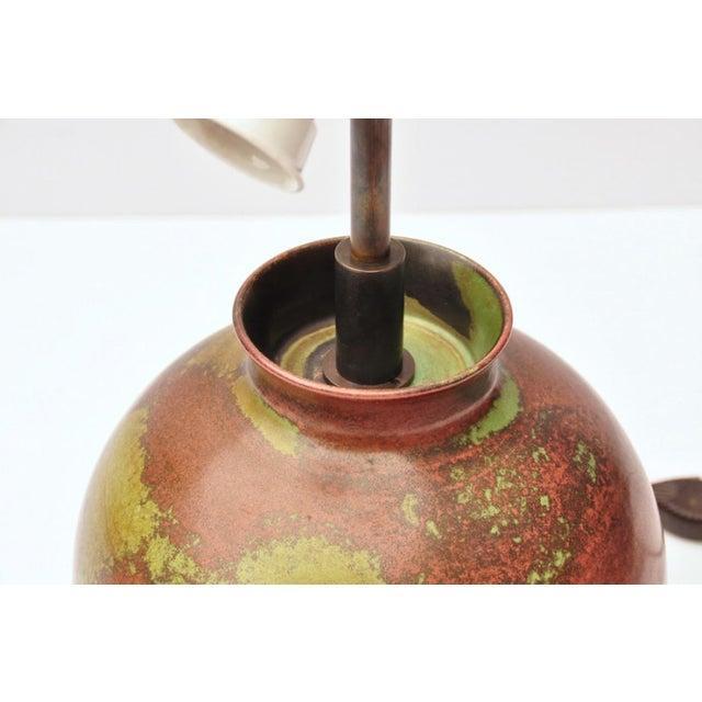 1930s Fritz Haussmann Ceramic Lamp, Switzerland, 1930s For Sale - Image 5 of 10