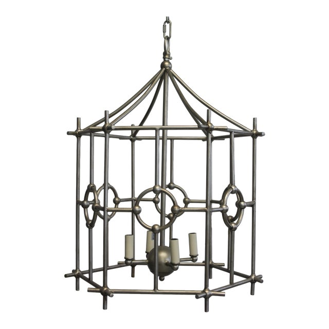 Old World Design Chinoiserie Lantern For Sale
