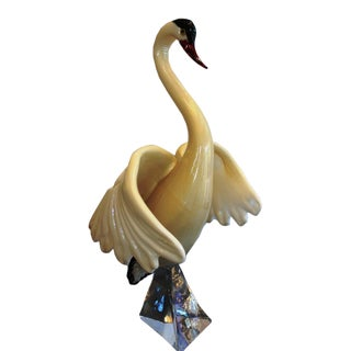 Murano Glass Swan by Oscar Zanetti For Sale