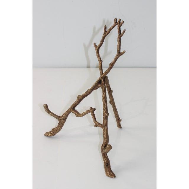 Vintage Tabletop Easel Bronze Twig Motif For Sale In West Palm - Image 6 of 13