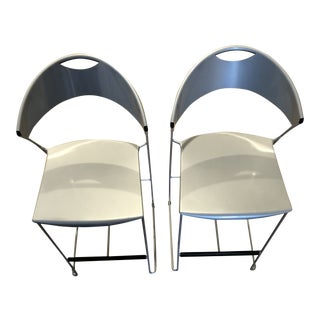 Baleri Italia Juliette Bar Stools - A Pair For Sale