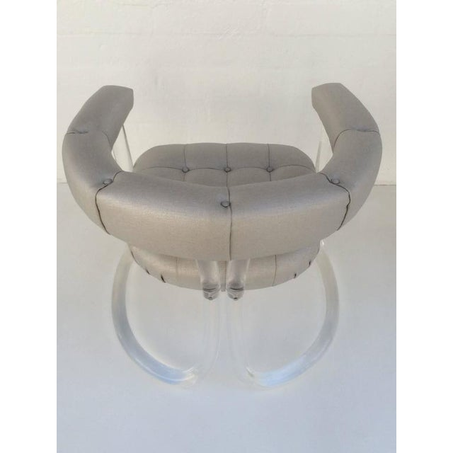 Hill Manufacturing Co. Pair Sculpted Acrylic Armchairs For Sale - Image 4 of 10